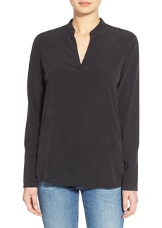 AG 'Marley' Split Neck Silk Blend Shirt