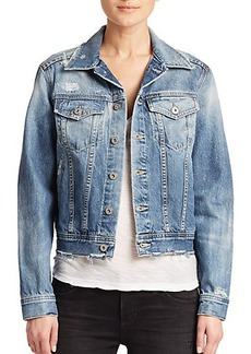 AG Mya Distressed Oversized Denim Jacket