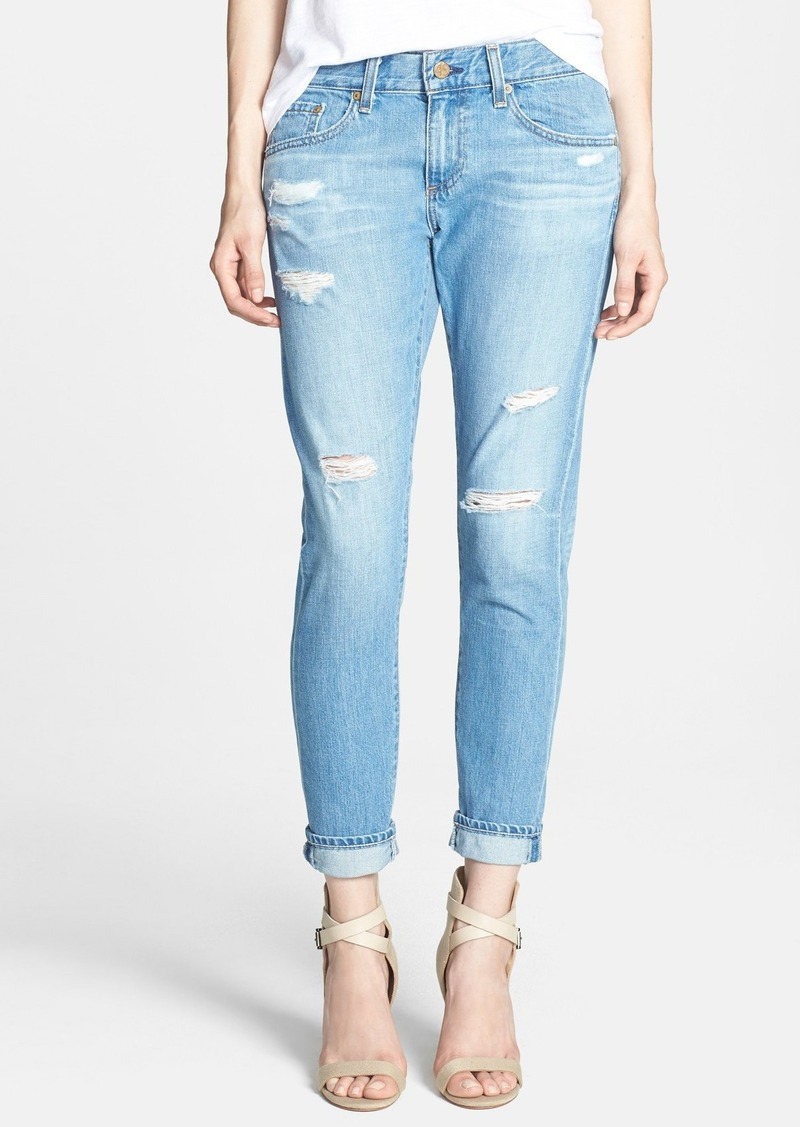AG 'Nikki' Deconstructed Relaxed Skinny Crop Jeans (17 Years Lifted)
