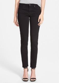 AG 'Prima' Mid Rise Cigarette Jeans (Super Black)