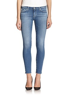 AG Raw-Hem Legging Ankle Jeans