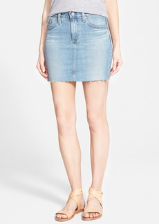 AG 'Sandy' Raw Edge Denim Miniskirt (15 Year Cape)