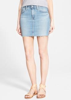 AG 'Sandy' Raw Edge Denim Miniskirt (15 Year Cape)