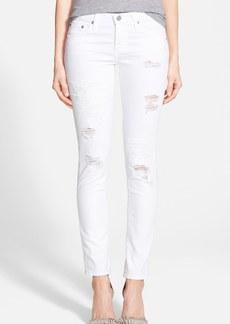 AG 'Stilt' Cigarette Jeans (1 Year White Mended)