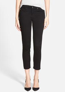 AG 'Stilt' Cigarette Leg Crop Jeans (Super Black)