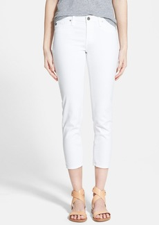AG 'Stilt' Cigarette Leg Crop Jeans (White)
