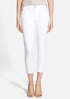 AG 'Stilt' Roll Cuff Skinny Jeans (White)