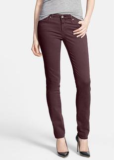 AG 'Stilt' Sateen Skinny Ankle Jeans (Crimson Maple)