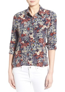 AG 'Sutton' Floral Print Silk Shirt