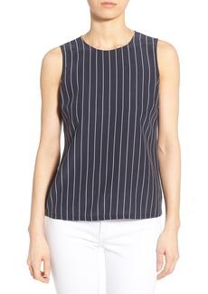 AG 'Teagan' Pinstripe Silk Shell