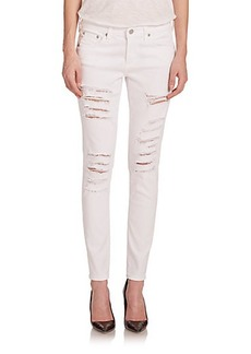 AG The Distressed Legging Ankle Jeans