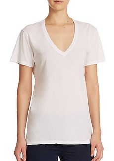 AG The Kiara Cotton V-Neck Tee