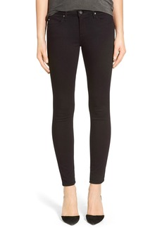 AG 'The Legging' Ankle Super Skinny Jeans (Super Black)
