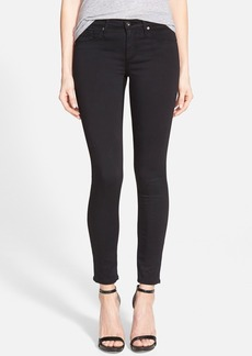AG 'The Legging' Black Sateen Ankle Jeans