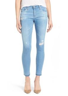 AG 'The Legging' Released Hem Ankle Skinny Jeans (15 Years Poetic Blue)