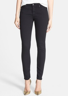 AG 'The Prima' Cigarette Leg Skinny Jeans (Super Black)