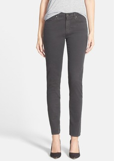 AG 'The Sateen Prima' Cigarette Leg Skinny Jeans (Dark Charcoal)