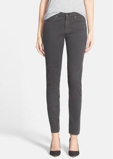 AG 'The Sateen Prima' Cigarette Leg Skinny Jeans (Dark Charcoal)