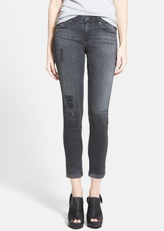 AG 'The Stilt' Cuffed Cigarette Jeans (Mantra Mended)