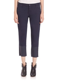 AG Tristan Cropped Coated-Ankle Trousers