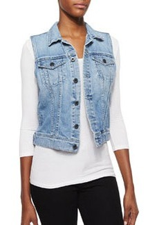 AG Adriano Goldschmied Debbie Light-Wash Denim Vest