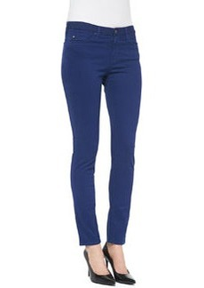 Prima Sateen Mid-Rise Cigarette Jeans, Lapis   Prima Sateen Mid-Rise Cigarette Jeans, Lapis