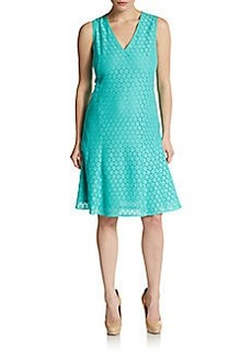 Akris Punto A-Line Medallion Lace Dress