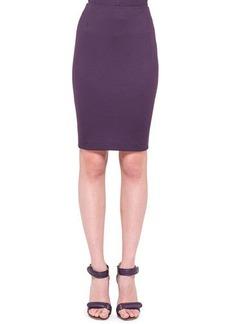 Akris punto Back-Zip Jersey Pencil Skirt, Purple