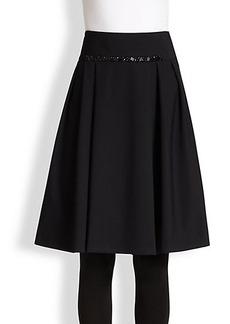 Akris Punto Bead-Detail Neoprene Skirt