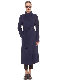 Akris punto Belted Long Wool Coat