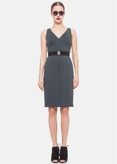 Akris punto Belted Neoprene Sheath Dress