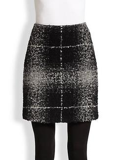 Akris Punto Check Boucle & Jersey Skirt