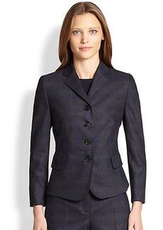 Akris Punto Check-Front Jersey-Back Blazer