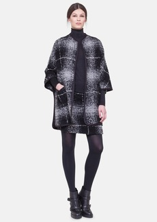 Akris punto Checkered Bouclé Cape