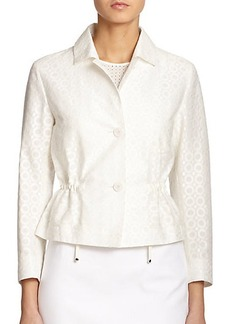 Akris Punto Circle Jacquard Cropped Jacket