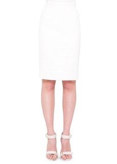Akris punto Coated Tweed Pencil Skirt