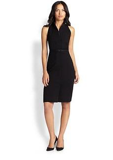 Akris Punto Collared Jersey Dress