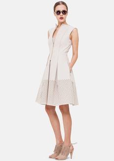 Akris punto Cotton Blend Twill Fit & Flare Dress