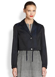 Akris Punto Cropped Drawstring Jacket