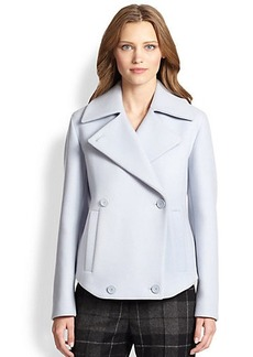 Akris Punto Cropped Wool Double-Breasted Coat