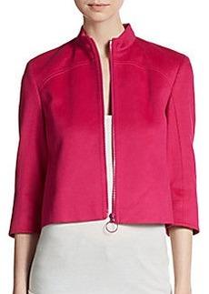 Akris Punto Cropped Zip-Front Jacket