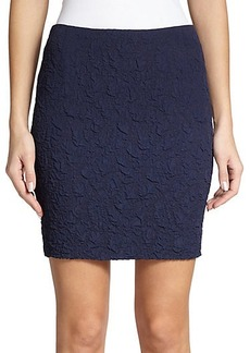 Akris Punto Crushed Jacquard Pencil Skirt