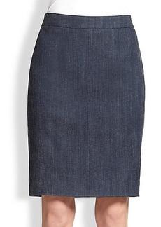 Akris Punto Denim Pencil Skirt