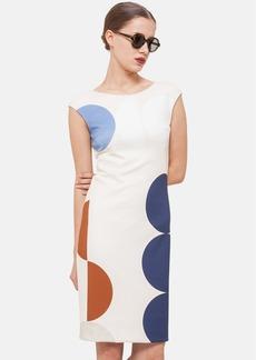 Akris punto Dot Print Jersey Sheath Dress
