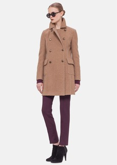 Akris punto Double Breasted Wool & Camel Hair Coat