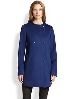 Akris Punto Double-Breasted Wool Coat