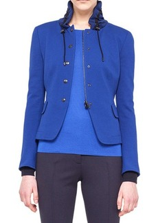 Akris punto Drawstring-Collar Jersey Jacket