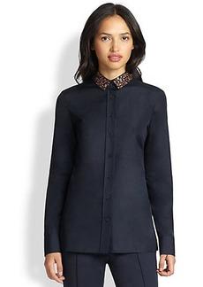 Akris Punto Embellished Button-Up Shirt