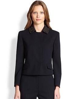 Akris Punto Embellished Collar Wool Jacket