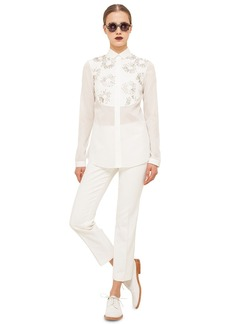 Akris punto Embellished Cotton Shirt